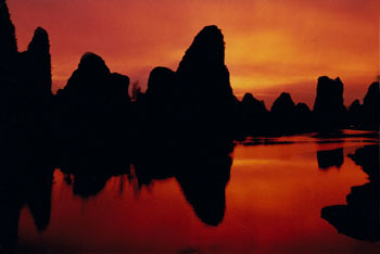 Sunset,sunrise,night,morning,China,Guilin,Shanghai